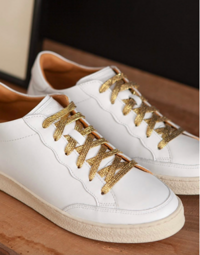 Sneakers n°14 lacets GOLD